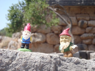 G-Nome & Isaac in Delphi. G-Nome is my Dad's gnome.